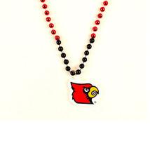 Louisville Cardinals Logo Bead Necklace NCAA Red Team Logo Gameday Jewel... - $7.87