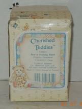 "cherished teddies Hanging Ornament ""Bear In Stocking"" 1992 #950653 - $32.73"