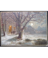 Antique, R Tuck & Sons, Eden Hooper Signed, Victorian Christmas Card, 18... - $21.00