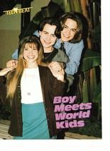 Danielle Fishel Andrew Keegan teen magazine pinup clipping Boy Meet's World