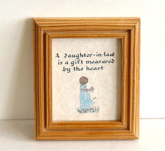 Miniature Framed Calligraphy A Daughter-in-Law is a Gift Mea - $4.49
