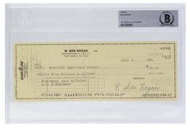 Ben Hogan Signed Personal Check #4698 7/5/1994 Slabbed BAS - $277.19