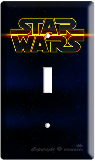 NEW STAR WARS SPACE LOGO EMBLEM SINGLE LIGHT SWITCH COVER PLATE LORD DARTH WADER