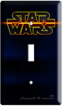 New Star Wars Space Logo Emblem Single Light Switch Cover Plate Lord Darth Wader - $9.99