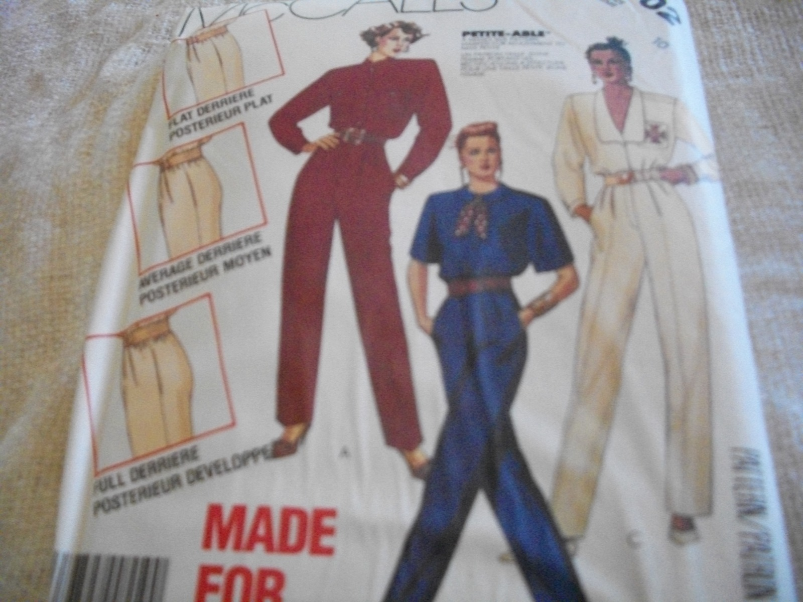 Primary image for Misses' Jumpsuit Pattern McCall's 2702