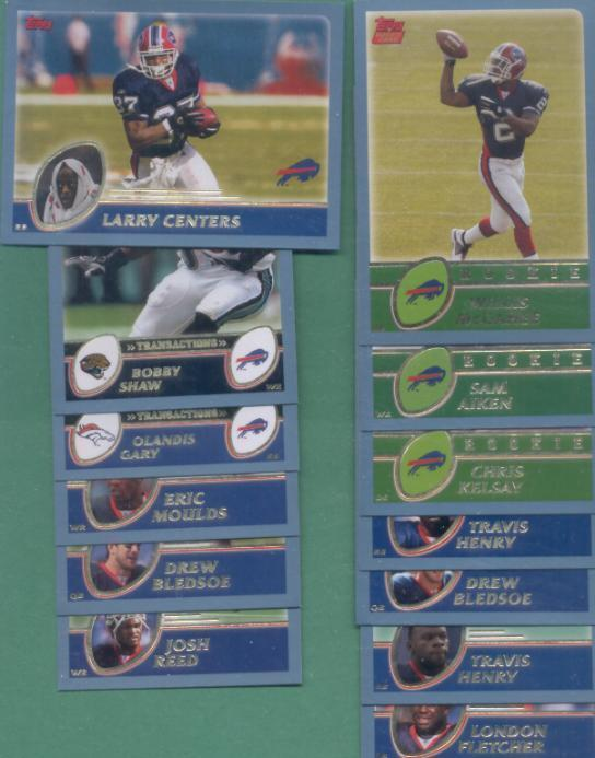 2003 Topps Buffalo Bills Football Team Set