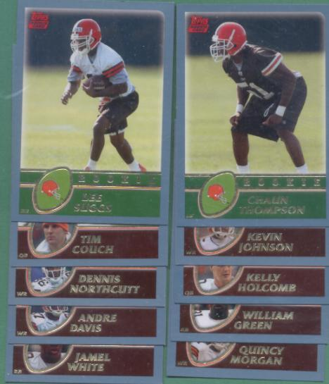 2003 Topps Cleveland Browns Football Team Set