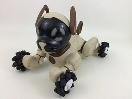 Chocolate Chip Wowwee Toy Dog Robot Puppy Voice Touch Control Tan Brown ... - $44.50