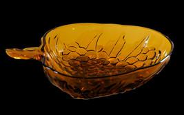 Vintage Anchor Hocking Dark Amber Grape Pattern Bowl - $18.00