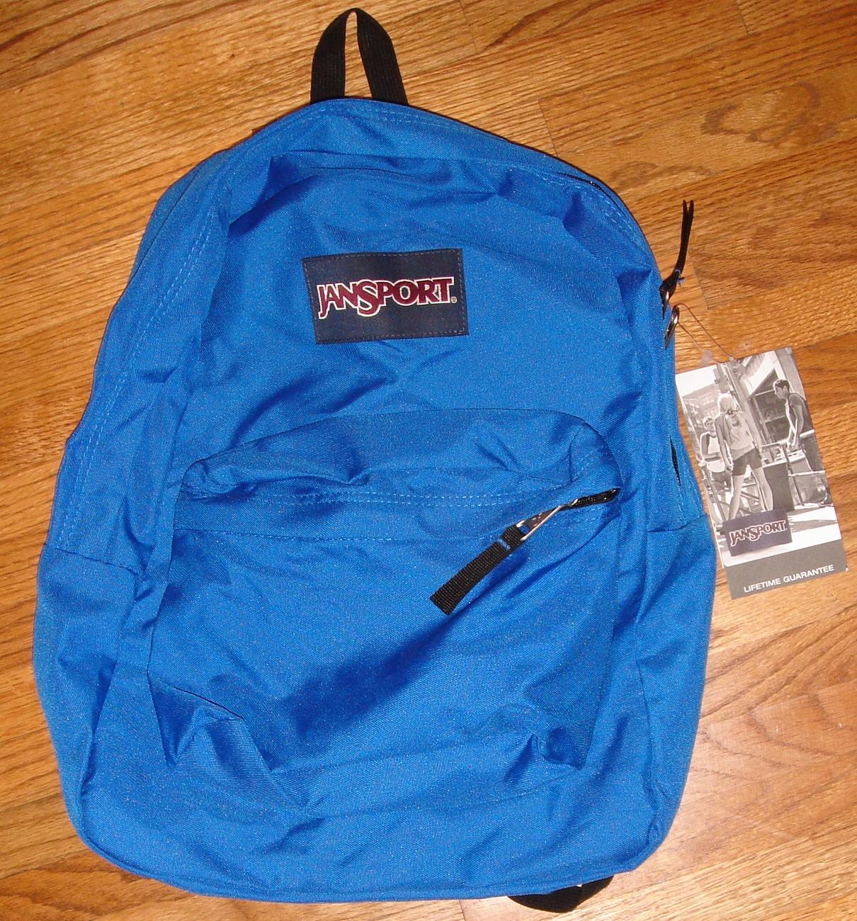 NWT JANSPORT Girls Superbreak Backpack Book Bag School Pack Padded Mammoth Blue