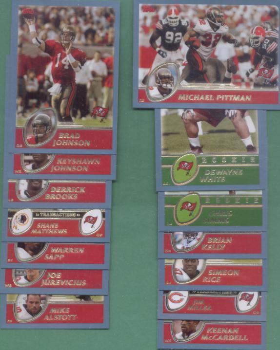2003 Topps Tampa Bay Buccaneers Football Team Set