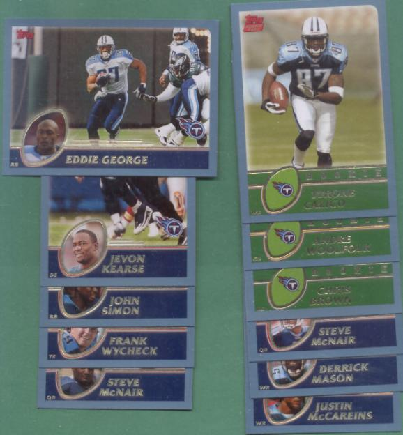 2003 Topps Tennessee Titans Football Team Set