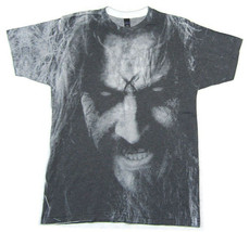 Rob Zombie-Face All Over Sublimation print-Large Lightweight  T-shirt - $24.18