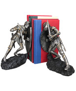 Medieval Knights in Full Armor Battling Bookends Set Collectible Figurin... - $49.49