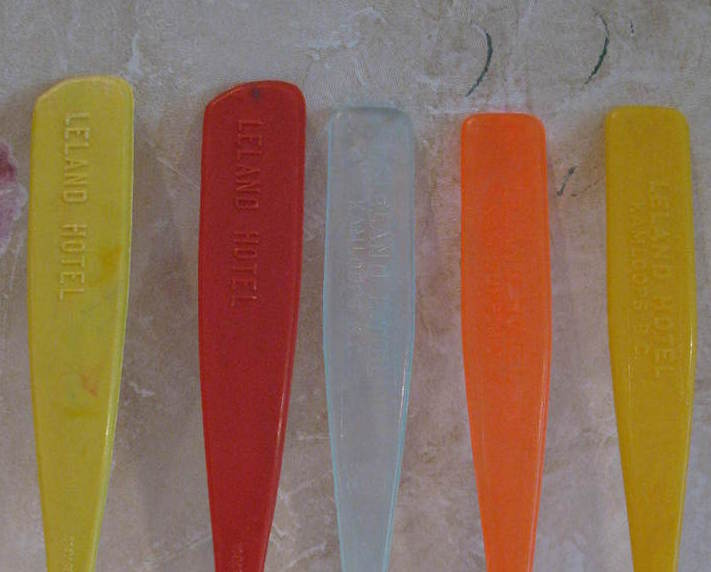 Leland Hotel Kamloops BC. Souvenir Swizzle Stir Sticks 5