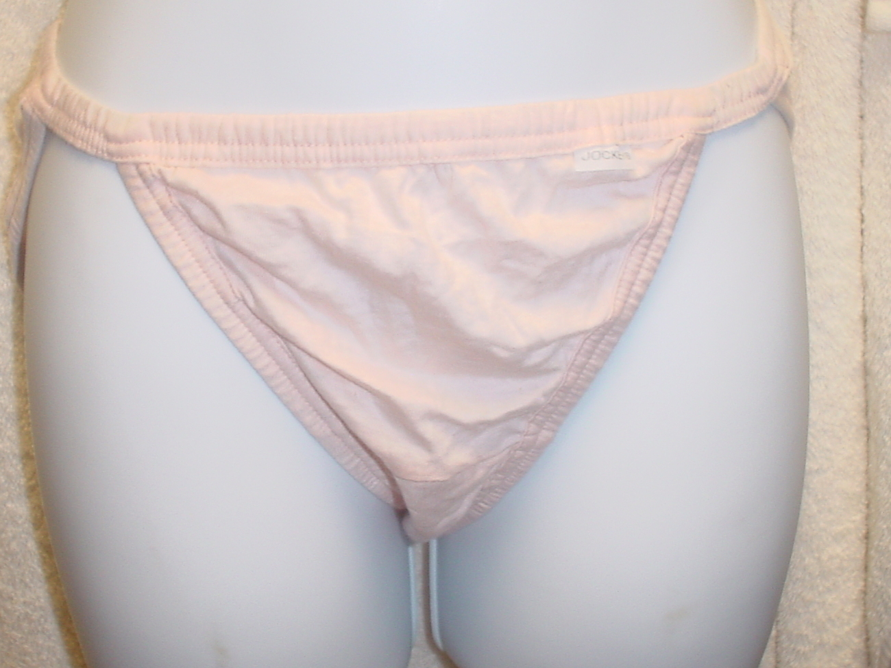 Jockey Cotton String Bikini 5/Small Pink SP-Slightly Imperfect NWOT