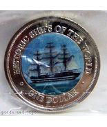 COOK ISLANDS AMERIGO VESPUCCI SHIP COLOR COIN UNC  - $34.99