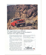 1964 IH Int'l Harvester Scout driving uphill print ad - $10.00