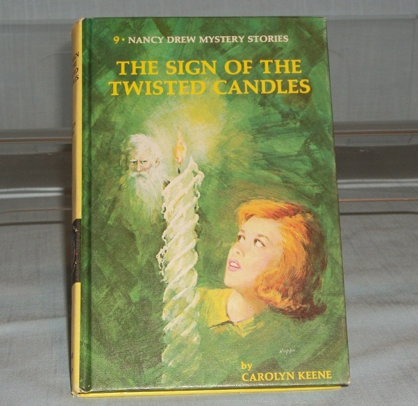 Nancy Drew #9 The Sign of the Twisted Candles Vintage Matte Picture Cover Yellow