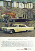 1965 Cadillac Sedan + 1963 Sedan de Ville photo print ad - $10.00