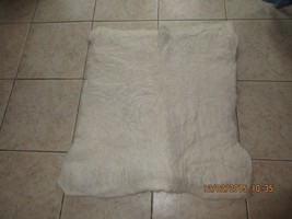 White Large Felted Pad made from 100% Alpaca - $54.45