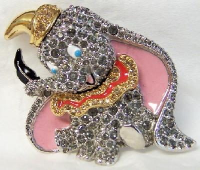 Dumbo swarovski pin front