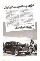 1940 Buick Sedan vintage classic automobile print ad - $10.00