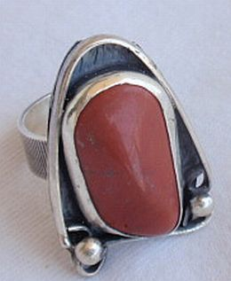 Natural blood stone ring LG