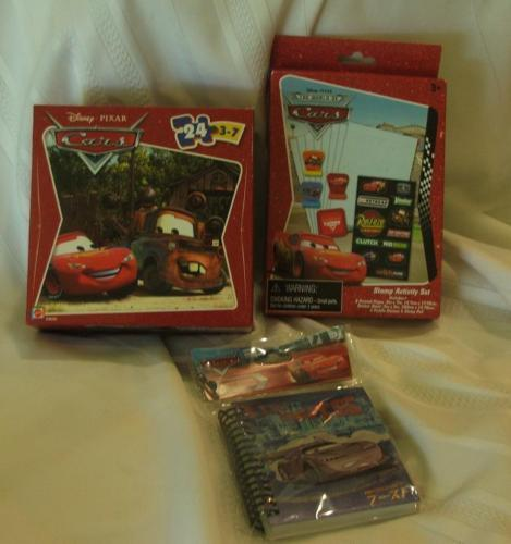 Disney Pixar Cars Trio Notebook Stamp Activity Set Puzzle