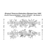 Victorian Embroidery Transfer Patterns Fans Birds2 1888 - $4.99