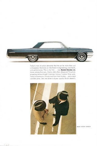 1963 GM Buick Electra 225 4 Door Sedan vintage print ad