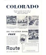 1942 Colorado De Luxe Trains vacation travel print ad - $10.00