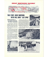 1946 Great Northern Railway LAST SPIKE picture print ad - $10.00