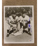 PHIL RIZZUTO & JERRY COLEMAN HOF'ER YANKEES 1950'S SS & 2ND SIGNED 8X10 ... - $149.99