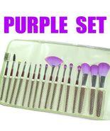 16 pc  Unique Studio Mineral Purple Makeup Brushes Set - $26.99