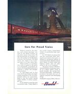 1950 Budd Pennsylvania Train Railroad Railway print ad - $10.00