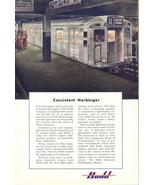 1950 Budd Train underground sub-way railway print ad - $10.00