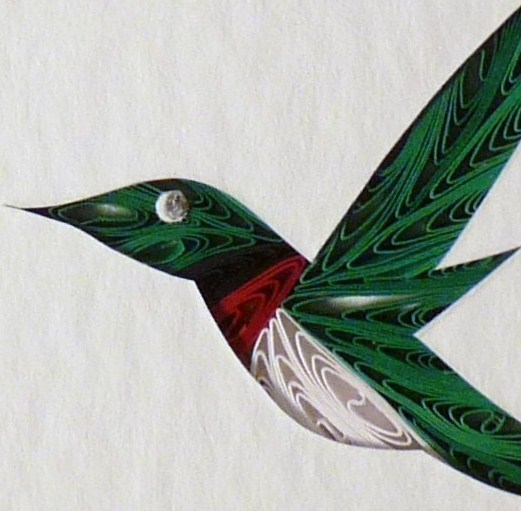 Tiny Quilled Hummingbird