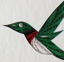 Tiny Quilled Hummingbird  - $55.00