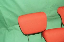 10-13 Kia Soul Rear Back Cloth 3 Headrests Headrest Set RED image 2