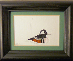 Tiny Quilled Hooded Merganzer - $55.00