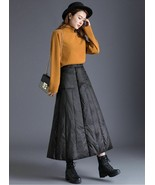 Women's Insulated Long Down Skirt Winter Windproof Warm Padded A-Line Sk... - $58.87