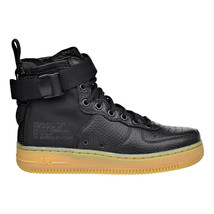 Nike SF Air Force 1 MID Womens Shoes Black-Black-Gum Light Brown aa3966-002 - $149.95