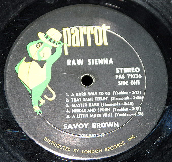 "Savoy Brown ""Raw Sienna""    LP"