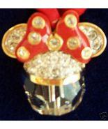 DISNEY MINNIE SWAROVSKI CRYSTAL CHRISTMAS ORNAMENT NIB! - $109.99