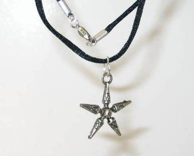 Haunted Gypsy Witch Pendant - Five Stars Spell - Strong