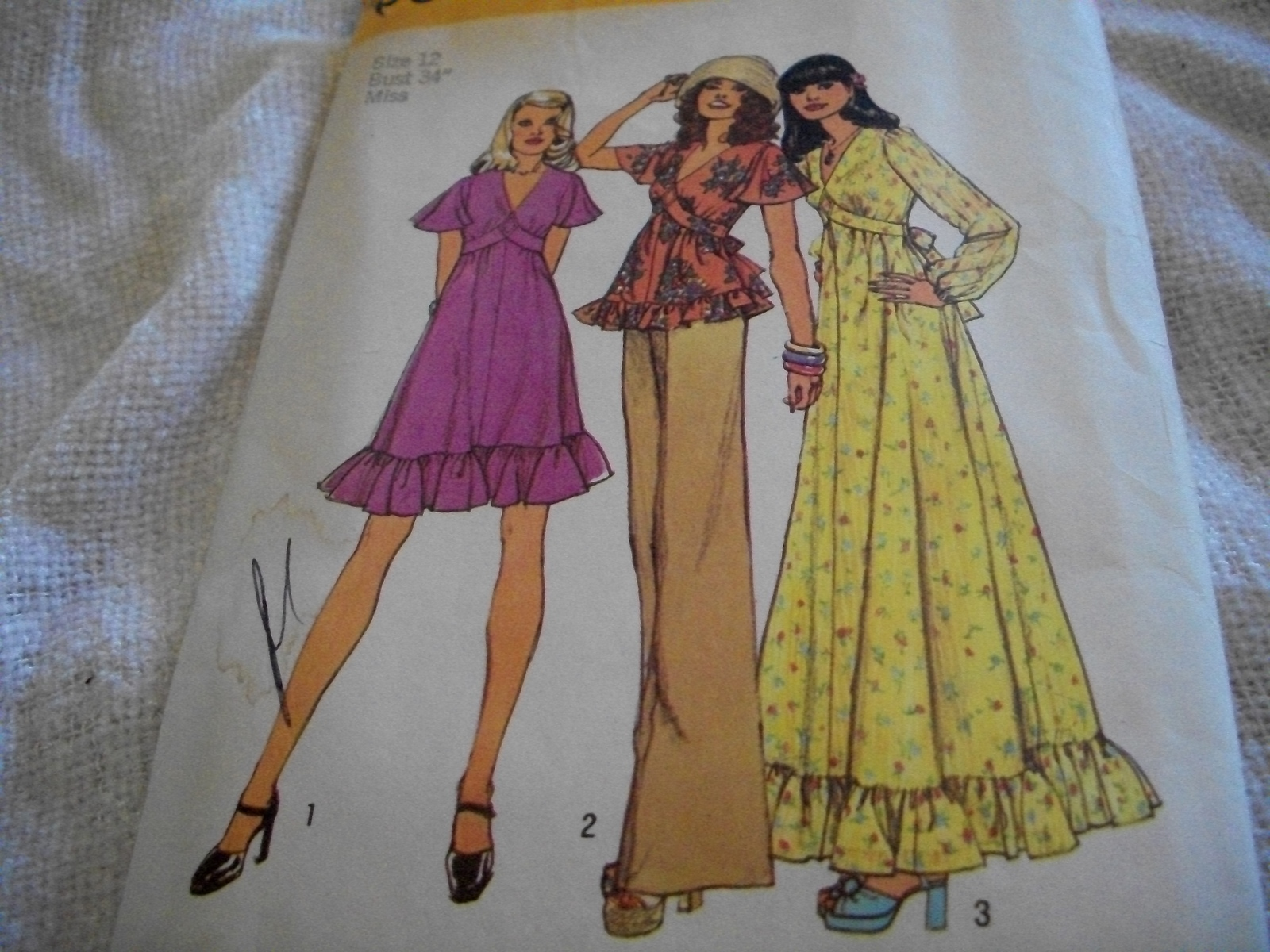 Primary image for Vintage Misses' Short or Long Dress Pattern Simplicity 6600
