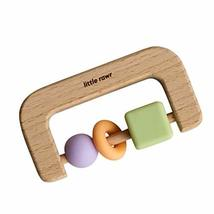 Little Rawr Beads Teether Set - Natural Timber Wood & Silicone - Rattle Teether