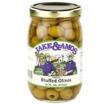 Jake & Amos Pimento Stuffed Olives 16 oz. (3 Jars) - $29.65