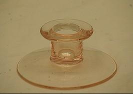 Vintage Fenton Pink Depression Glass Candlestick Candle Stick Holder 1-1... - $14.84